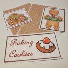 Baking Cookies Gingerbread 1a - 5 piece mat set