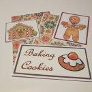 Baking Cookies Gingerbread Man - 5 piece mat set