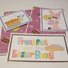 Breakfast w/The Easter Bunny Girl - 5 piece mat set