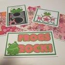 Frogs Rock - 5 piece mat set
