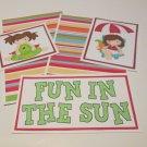 Fun In The Sun Girl a - 5 piece mat set