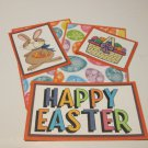 Happy Easter Brown Bunny a - 5 piece mat set