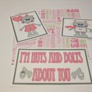 I'm Nuts and Bolts - 5 piece mat set