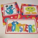 Monsters - 5 piece mat set