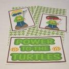 Power To The Turtles Boy - 5 piece mat set