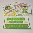 Power To The Turtles Girl - 5 piece mat set