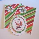 Ho Ho Ho Santa b - 5 pc Embellishment Set