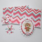 I Love You Puppy a - 5 pc Embellishment Set