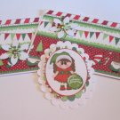 Merry Christmas Ornament Girl - 5 pc Embellishment Set