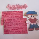 Be My Valentine Boy 1 - Printed Piece/Title & Mats set