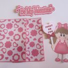 Be My Valentine Girl 1 - Printed Piece/Title & Mats set
