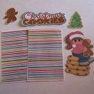 Christmas Cookies Girl 1 - Printed Piece/Title & Mats set