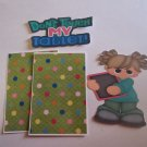Don't Touch My Tablet Girl - Printed Piece/Title & Mats set
