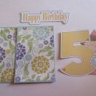 Happy 5th birthday Girl - Printed Piece/Title & Mats set