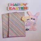 Happy Easter Bunny and Girl - Printed Piece/Title & Mats set