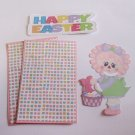 Happy Easter Girl 1a - Printed Piece/Title & Mats set