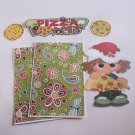 Pizza Lovers Girl - Printed Piece/Title & Mats set