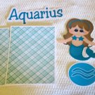 Aquarius- Printed Piece/Title & Mats set