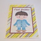 """Feel Better Boy - 5x7"""" Greeting Card with envelope"""