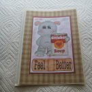 "Feel Better Hippo Ckn Soup a - 5x7"" Greeting Card with envelope"