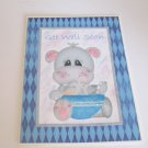 """Get Well Soon Hippo - 5x7"""" Greeting Card with envelope"""