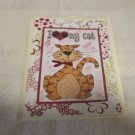 """I Love My Cat - 5x7"""" Greeting Card with envelope"""