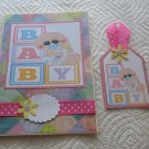 """Baby Girl 4 - 5x7"""" Greeting Card with Matching Tag and envelope"""