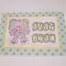 """Baby Girl Elephant - 5x7"""" Greeting Card with envelope"""