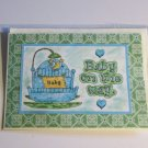 """Baby On The Way Boy Cradle - 5x7"""" Greeting Card with envelope"""