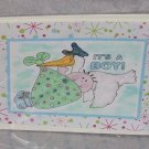"It's A Boy - 5x7"" Greeting Card with envelope"