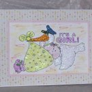 """It's A Girl - 5x7"""" Greeting Card with envelope"""