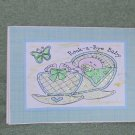 "Rock a Bye Baby Boy a - 5x7"" Greeting Card with envelope"