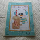 """Coffee Tea Or Me Snowman - 5x7"""" Greeting Card with envelope"""