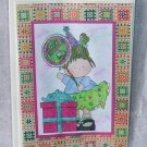 """Birthday Balloon Girl 2 - 5x7"""" Greeting Card with envelope"""