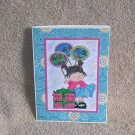 """Birthday Balloon Girl 3 - 5x7"""" Greeting Card with envelope"""