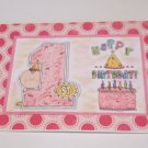 "Happy lst Birthday Girl - 5x7"" Greeting Card with envelope"