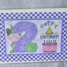 "Happy 2nd Birthday Girl - 5x7"" Greeting Card with envelope"