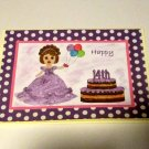 """Happy 14th Birthday Girl - 5x7"""" Greeting Card with envelope"""