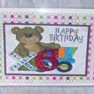 """Happy Birthday Bear 6 - 5x7"""" Greeting Card with envelope"""