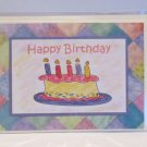 "Happy Birthday Cake Girl a - 5x7"" Greeting Card with envelope"