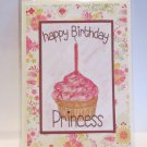 "Happy Birthday Princess - 5x7"" Greeting Card with envelope"