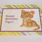 "Happy Birthday Tiger b - 5x7"" Greeting Card with envelope"
