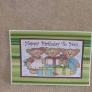 """Happy Birthday To You 3 bears - 5x7"""" Greeting Card with envelope"""