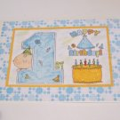 """Happy 1st Birthday Boy a - 5x7"""" Greeting Card with envelope"""
