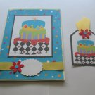 "Birthday 1 - 5x7"" Greeting Card with Matching Tag and envelope"