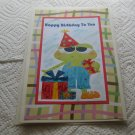 "Happy Birthday To You Boy Frog - 5x7"" Greeting Card with envelope"