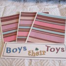 Boys and Their Toys a - 4pc Mat Set