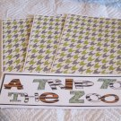 A Trip To The Zoo a - 4pc Mat Set