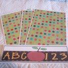 ABC 123 Apple a - 4pc Mat Set