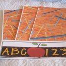 ABC 123 Apple b - 4pc Mat Set